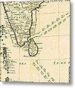 Southern India And Ceylon Metal Print