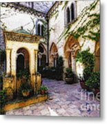Southern Italy Villa Courtyard  Metal Print