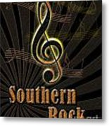 Southern Rock Music Poster Metal Print