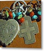 Southwest Style Jewelry With Texas Star Metal Print