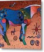 Southwestern Symbols Metal Print