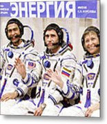 Soyuz Tma-11 Space Crew Metal Print