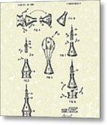 Space Capsule 1961 Patent Art #2 Metal Print by Prior Art Design