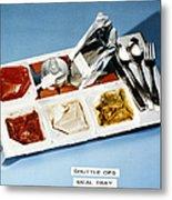 Space: Food Tray, 1982 Metal Print