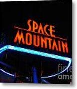 Space Mountain Sign Magic Kingdom Walt Disney World Prints Metal Print