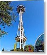 Space Needle In Seattle Washington  Metal Print