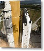 Space Shuttle Atlantis Lifts Metal Print