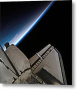 Space Shuttle Endeavour Backdropped Metal Print