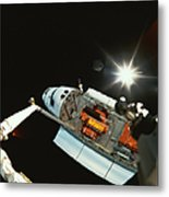 Space Shuttle In Space Metal Print