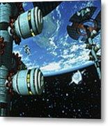 Space Stations Metal Print