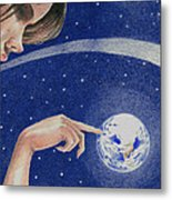 Space Touch Metal Print