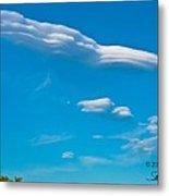 Spaceship Cloud Metal Print