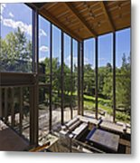 Spacious Living Room With A View Metal Print