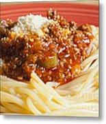 Spaghetti Bolognese Dish Metal Print