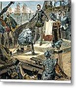 Spanish Armada Metal Print by Granger