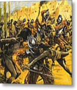 Spanish Conquistadors Metal Print