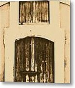 Spanish Fort Door Castillo San Felipe Del Morro San Juan Puerto Rico Prints Rustic Metal Print by Shawn O'Brien