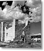 Spanish Mission Ruins Of Quarai Nm Metal Print by Christine Till