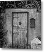Spanish Renaissance Courtyard Door Metal Print