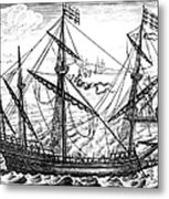 Spanish Ship, C1595 Metal Print