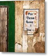 Spanish Wall Metal Print