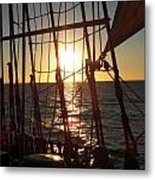 Sparkle In The Rigging Metal Print by L Jaye Bell
