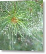 Sparkly Pine Metal Print