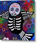 Sparrow Day Of The Dead Metal Print