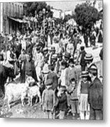 Sparta Greece - Street Scene - C 1907 Metal Print