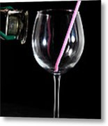 Speaker And A Glass With No Resonance Metal Print