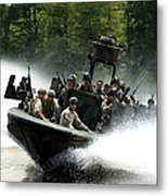Special Forces In A High-speed Combat Metal Print