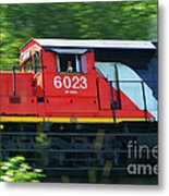 Speeding Cn Train Metal Print