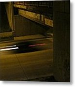 Speeding Under The Bridge Metal Print
