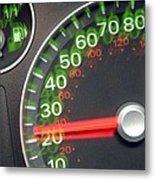 Speedometer Metal Print by Johnny Greig