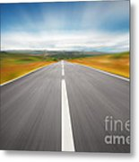 Speedyway Metal Print by Carlos Caetano