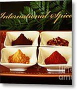 Spices From Around The World Metal Print