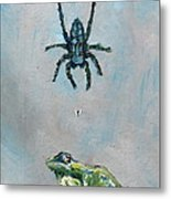 Spider Fly And Toad Metal Print by Fabrizio Cassetta