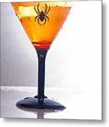 Spider Martini Metal Print