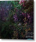 Spider Web In The Magic Forest Metal Print