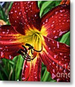 Spiderman The Day Lily Metal Print