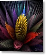 Spiky Botanical Metal Print by Peggi Wolfe