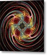 Spin Fractal Metal Print