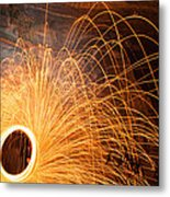 Spinning Fire Metal Print