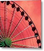 Spinning Wheel Metal Print