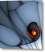 Spiral And Wobbly Lines Metal Print