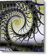 Spiral Web Metal Print