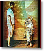 Spirit Of Freedom - Soldier And Son Metal Print
