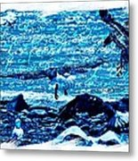 Spirit Of The Wild Blue Metal Print