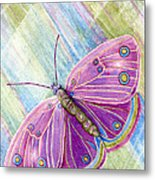 Spiritual Butterfly Metal Print