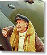 Spitfire Pilot Metal Print